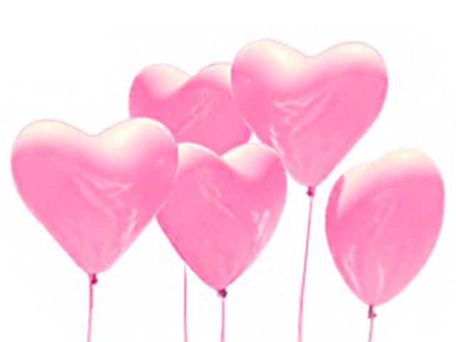 """Шар 12"""" Сердце"""" стандарт розовый 50 штук в упаковке"""