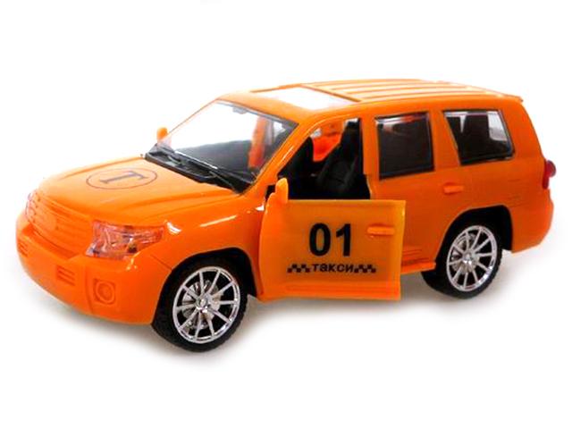 """Машина инерционная """"Такси"""" 22см, свет и звук, пластик, в пакете"""