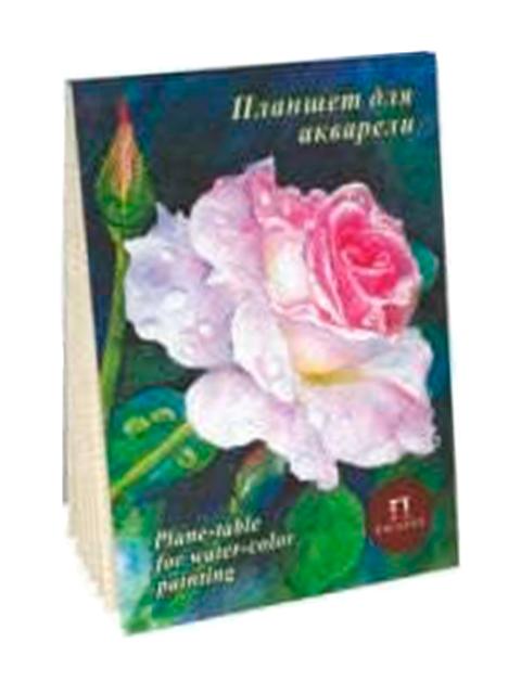 """Планшет для акварели А5 20 листов Лилия Холдинг """"Розовый сад"""" 200 г/м2, палевый """"Лен"""