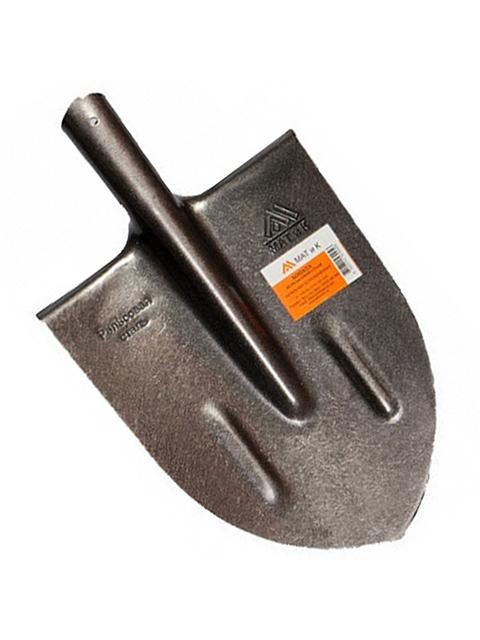 Лопата копальная остроконечная Матик (Рельсовая сталь)