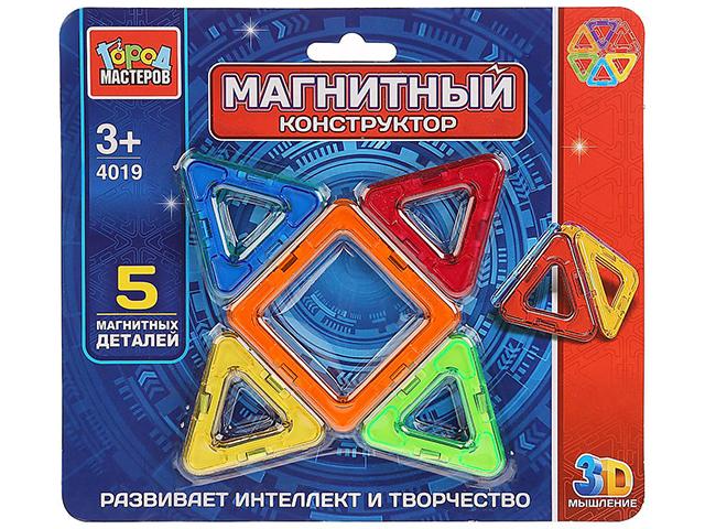 Конструктор магнитный Город мастеров 5 мини-детали на блистере