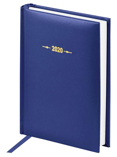 """Ежедневник датированный 2020г, А6 176 листов OfficeSpace """"Ariane"""" балакрон, синий"""