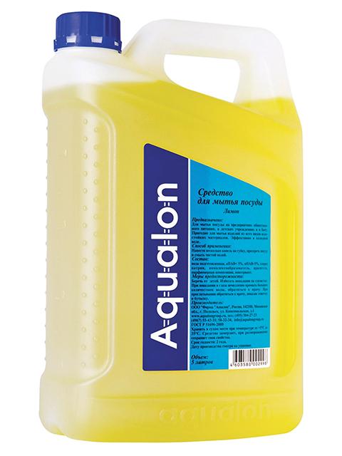 Средство для мытья посуды Aqualon 5 л, лимон