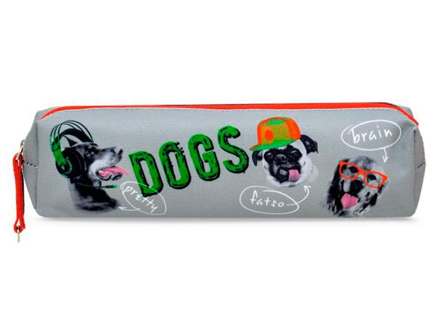 "Пенал-косметичка Феникс+ ""Собаки"" 20х4х4,5 см, микрофибра, на молнии"