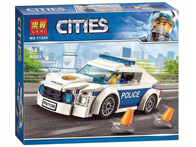 """Конструктор """"Автомобиль полицейского патруля"""" 98 деталей в коробке"""