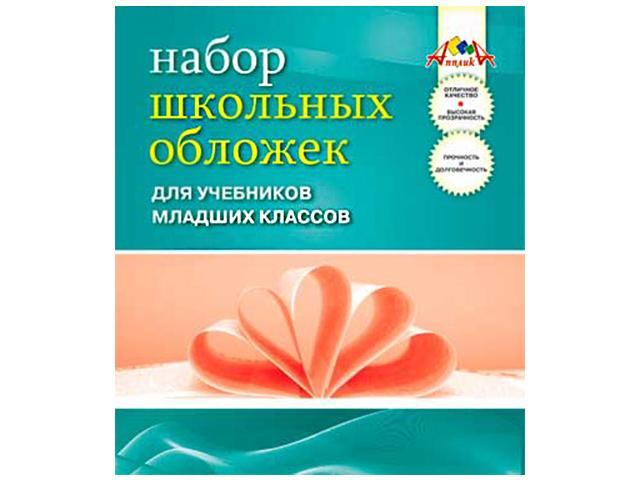 Обложка для учебников младших классов 110 мкм ПВХ, 233х365 мм, 5 штук в упаковке Апплика
