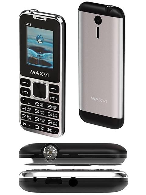 Мобильный телефон Maxvi X12 Metallic Silver