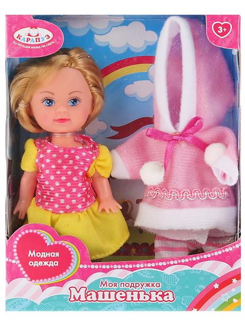 """Кукла Карапуз """"Машенька"""" 12 см, с комплектом зимней одежды, в картонной упаковке"""