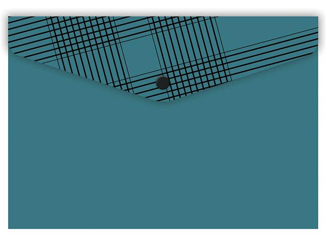 """Папка-конверт на кнопке 10.5x7.4см """"Феникс+. Бирюзовая"""""""