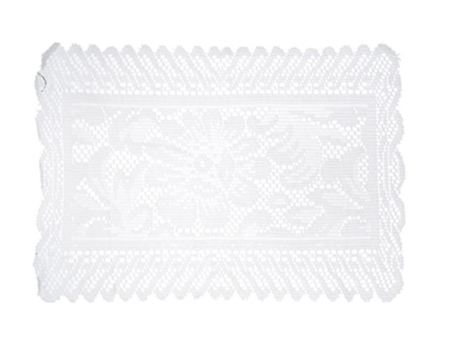 Салфетка ажурная 30х40см, полиэстер, белая