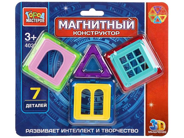 Конструктор магнитный Город мастеров 7 мини-детали на блистере