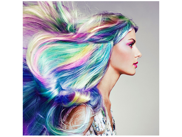 """Набор для детского творчества """"Холст с красками. Девушка с радужными волосами"""" 20х20 см"""