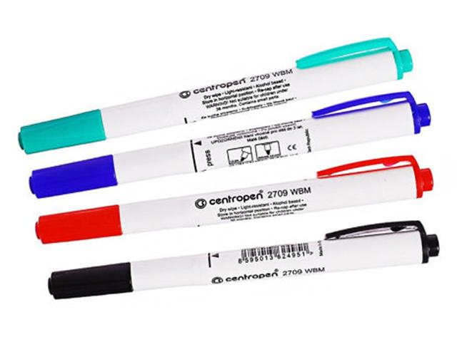 """Набор маркеров для белой доски Centropen """"Dry-Wipe"""" 1,8 мм, круглый наконечник, 4 цвета"""