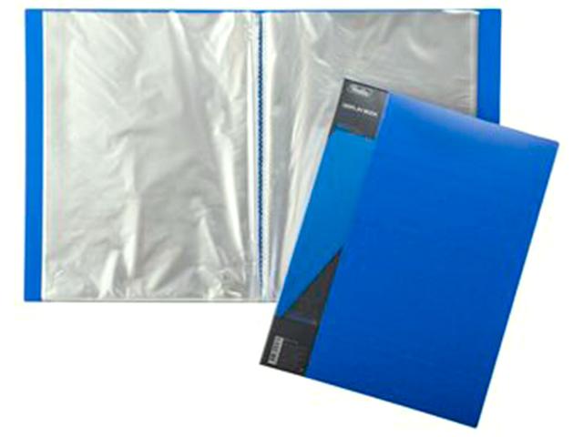 """Папка Хатбер """"Standard"""" 80 вкладышей 40 мм, синяя"""
