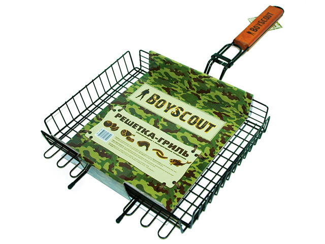 "Решетка-гриль ""Boyscout"", универсальная 62х30х25х5,5см + картонный веер"