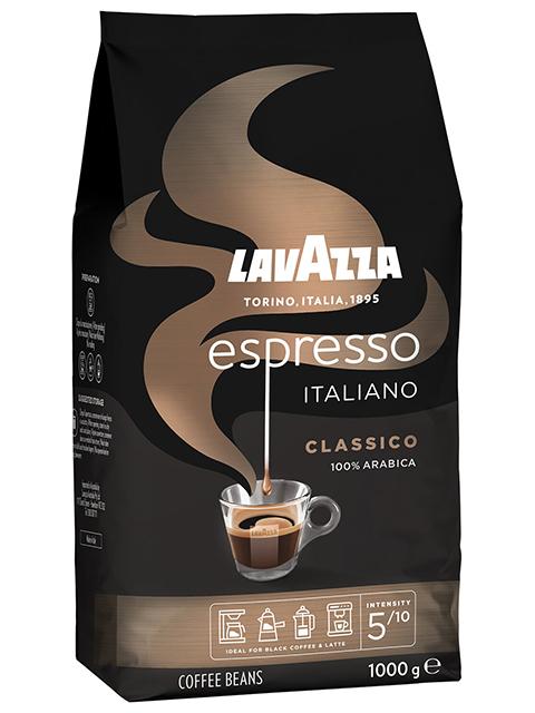 "Кофе в зернах LAVAZZA ""Espresso ltaliano Classico"" 1кг, вакуумная упаковка"