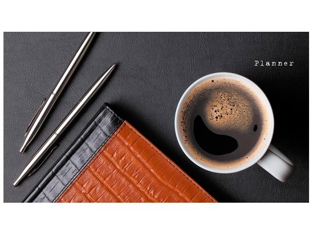 """Планинг недатированный (карманный) 64 листа Listoff """"Офисный стиль. Кофе"""", обл. 7БЦ, матов. ламин., выб. лак"""
