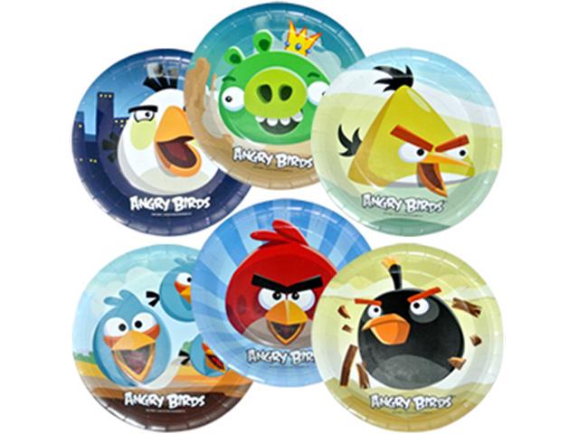 """Тарелка бумажная Пати бум """"Angry Birds"""" d-23см. ламинированная, 6 шт.в упак."""
