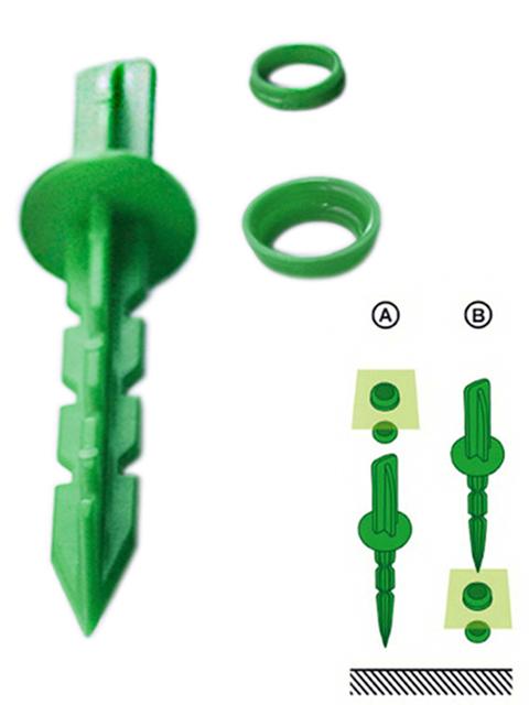 Колышки садовые 236х35х35мм, 10шт. в упак., зеленые(для крепления пленки)