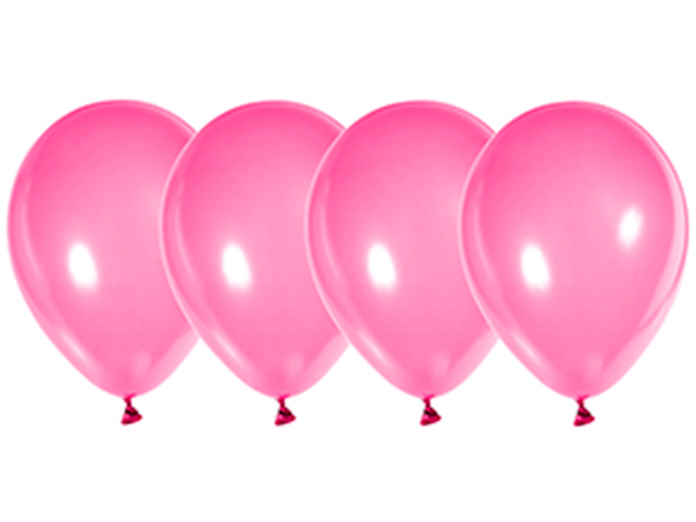 """Шар 12"""" стандарт люкс ярко-розовый 50 штук в упаковке"""
