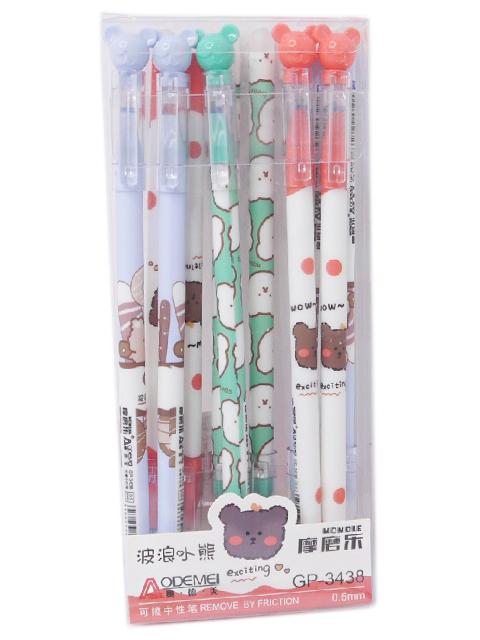 """Ручка """"пиши-стирай"""" гелевая Basir """"Мишка"""" 0,5 мм, корпус с рисунком, синяя"""