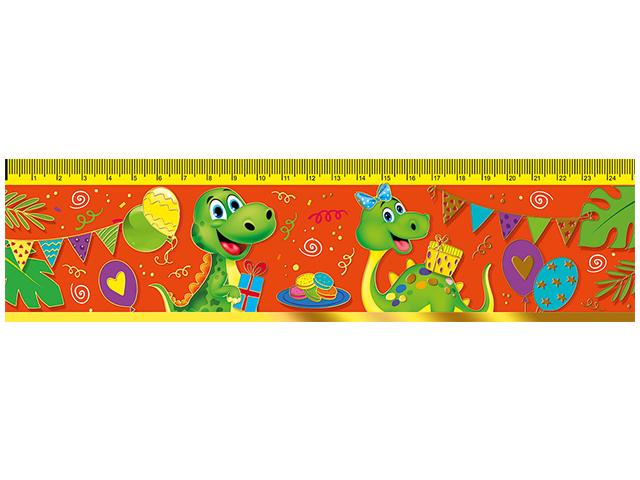 """Закладка-линейка с таблицей умножения Мир поздравлений """"Дино с подарками"""""""