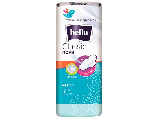 """Прокладки Bella """"Classic nova"""" с крылышками, 10 штук"""