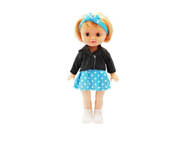 """Игрушка """"Кукла. Милашка в голубой юбочке"""" 26 см. в пакете"""