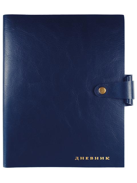"""Дневник универсальный deVENTE """"Favorite"""" мягкая обложка, искусственная кожа, кремовая бумага, на кнопке, синий"""