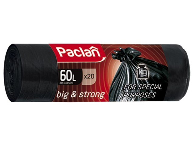 "Мешок для мусора 60 л. 20 шт. ""Paclan. BIG&STRONG"", 16 мкм"