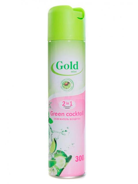 """Освежитель воздуха Gold mint 2в1 """"Green cocktail"""", 300 мл"""