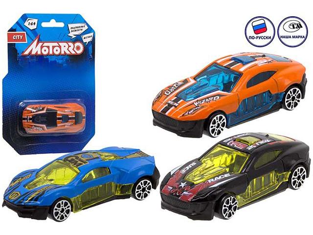 """Машинка-модель Motorro """"Спорткар"""", 1:64, металлическая, блистер"""