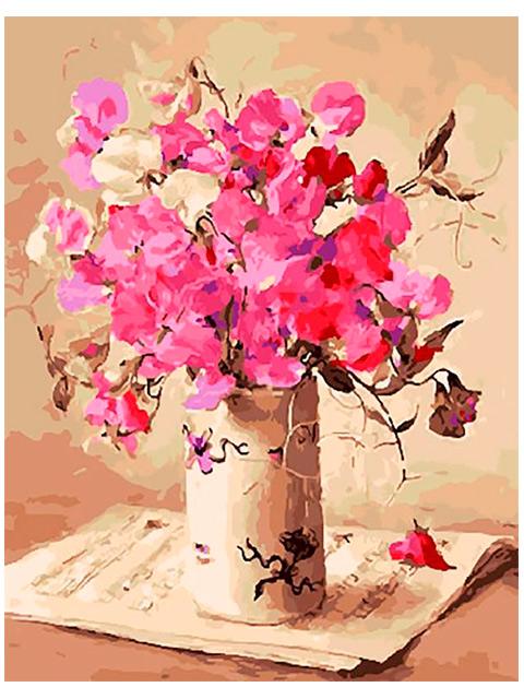 """Картина по номерам """"PaintBoy. Вальс цветов"""" 40*50см"""