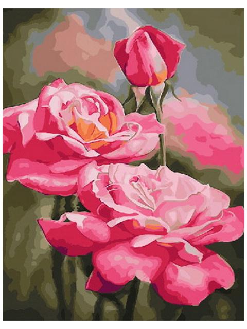 """Картина по номерам """"PaintBoy. Утренние розы"""" 40*50см"""