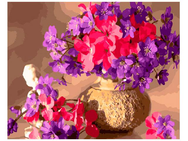 """Картина по номерам PaintBoy """"Букет из весенних цветов"""" 40*50см"""