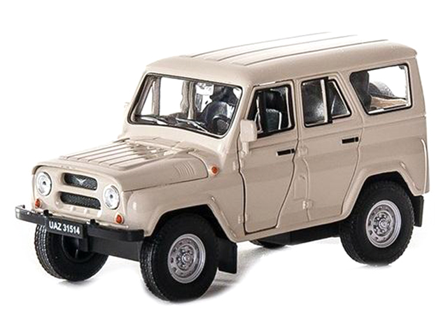 """Машинка-модель """"УАЗ 31514 Военная"""" металл, в коробке"""