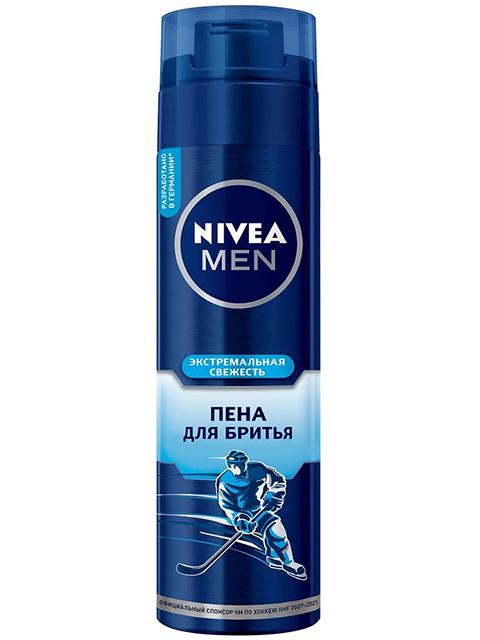 """Пена для бритья """"Nivea Men""""  экстремальная свежесть, 200мл"""