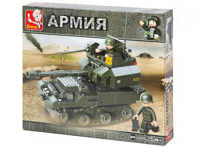 """Конструктор SLUBAN """"Танковый корпус. Танк 290"""" 178 деталей"""
