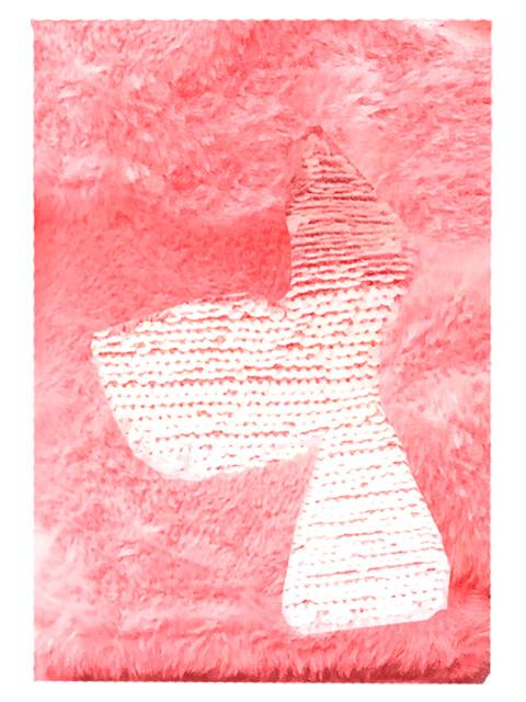 """Записная книжка А5 160 листов клетка deVENTE """"Mermaid tail"""" обложка с мехом, вышивка, розовый"""