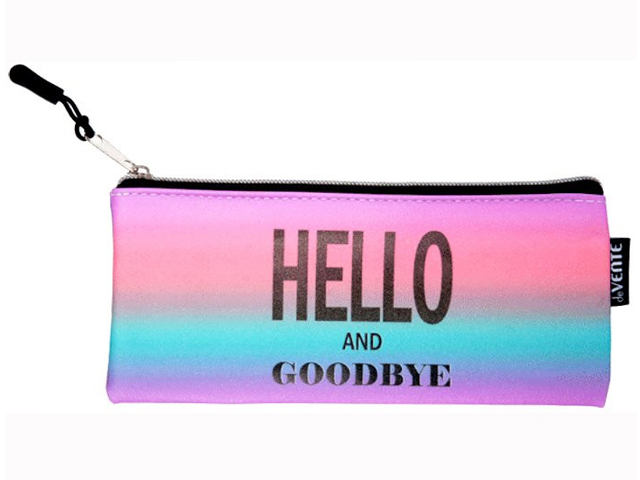 "Пенал-косметичка deVENTE ""Hello And Goodbye"" кожзам"