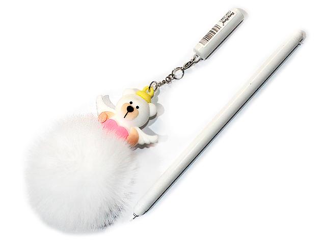 """Ручка гелевая детская Basir """"Мишка LOVE-пушистик"""" корпус пластик, съемный брелок, синяя, в ассортименте"""