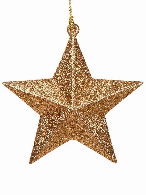"""Новогоднее украшение """"Звезда золотая"""" 10х9,5х3,5 см, пластик"""