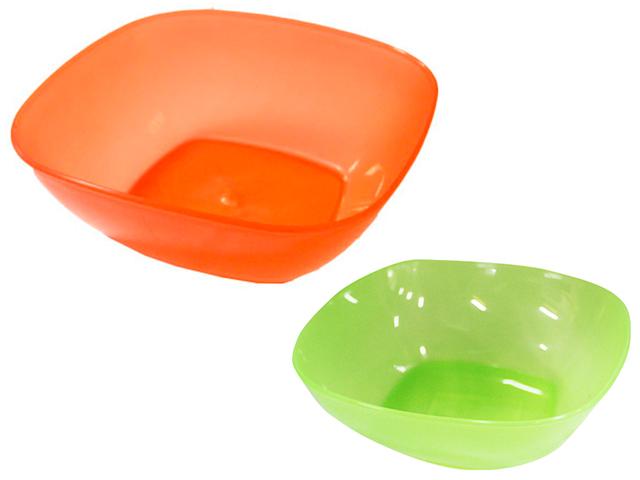 """Салатник """"Смак"""" V-0,5л. оранжевый, зеленый"""