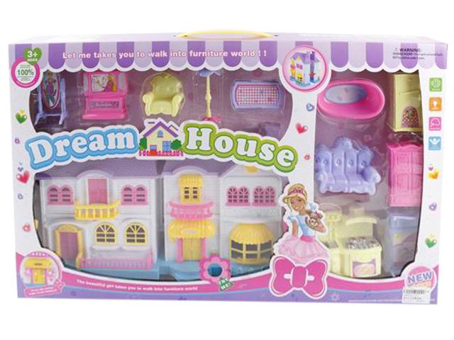 """Дом для кукол """"Дом мечты"""" 60х36 см, мебель"""