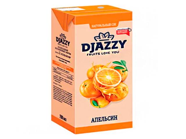 """Сок """"DJAZZY"""" 0,2 л апельсин"""