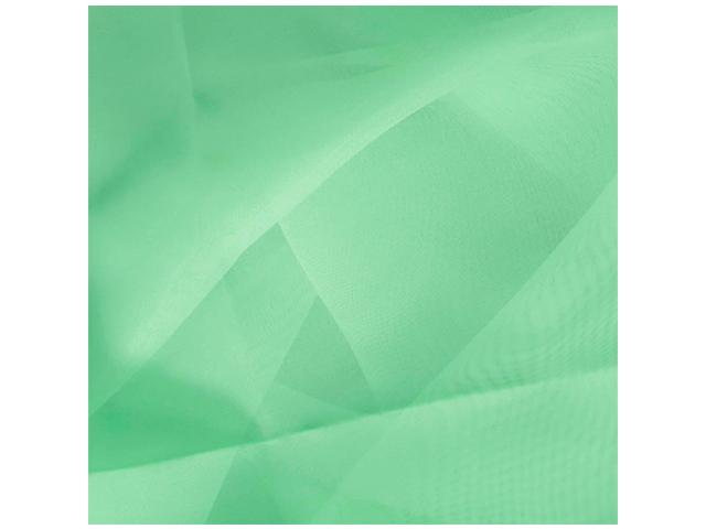 Штора вуаль однотонная 140х145см, 100% п/э, цвет фисташка