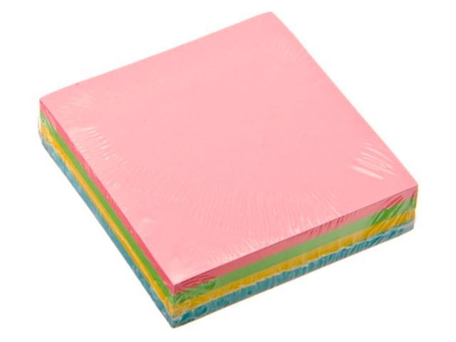 Блок для записей с клеевым краем ClipStudio 76х76 мм 200 листов, 4 цвета
