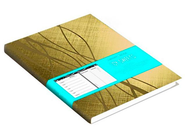 """Ежедневник недатированный А6 96 листов """"ICY SWEETS"""" обл. иск. кож, ляссе, золотой"""