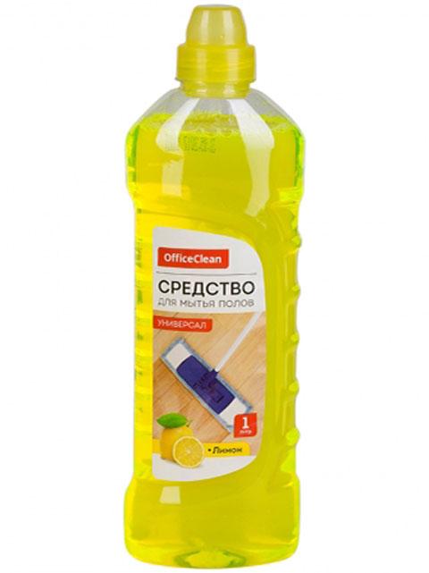 """Средство для мытья полов Office Clean """"Универсал"""" Лимон, 1 л."""