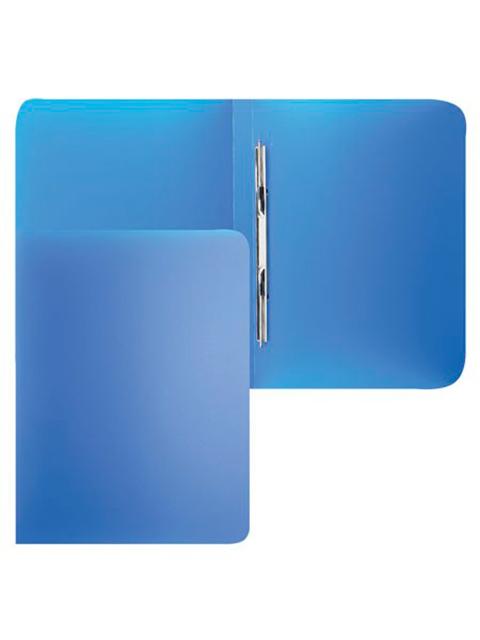 """Папка А4 с пружинным скоросшивателем и карманом PROFF """"Next"""" 0,6 мм, синяя"""